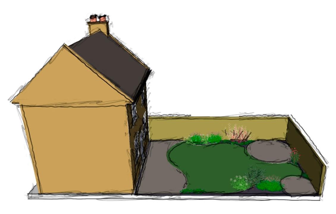 Escot Garden Sketch