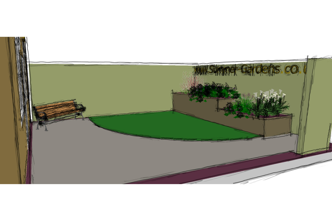 Newlyn Garden Sketch