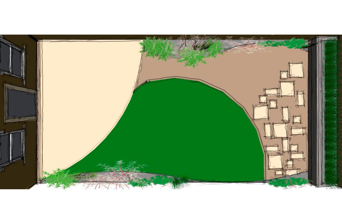 Rhigos Garden Sketch 1