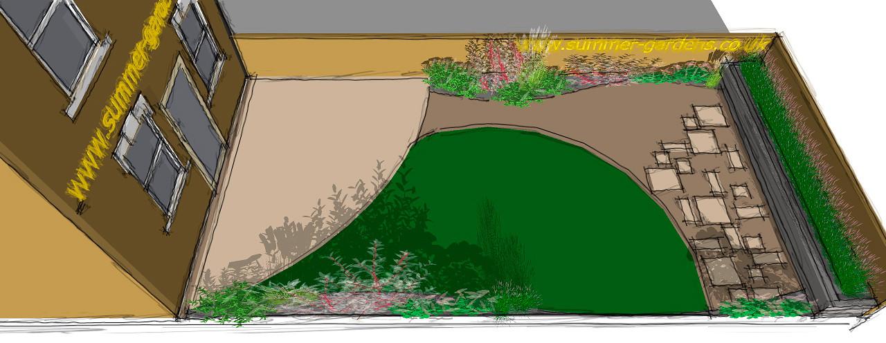 Rhigos Garden Sketch 2